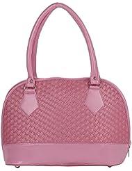 Kacey::Kacey Pink Shoulder Bag::Kacey Shoulder Bag::Textured Shoulder Bag::Women Shoulder Bag::PU Shoulder Bag...