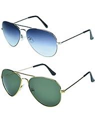 Zyaden COMBO Of Avaitor Sunglasses & Aviator Sunglasses (Combo-95)