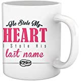 TIED RIBBONS He Stole My Heart Printed Coffee Mug(325 Ml, Multicolor)