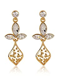 Estelle Gold Plated Dangling Earring With Crystals (518/711)
