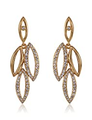 Estelle Gold Plated Chandelier Earring With Crystals (454/711)