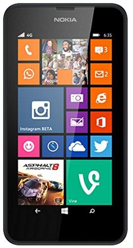 Nokia Lumia 635 Smartphone, 8 GB, Marchio Vodafone, Nero [Italia]