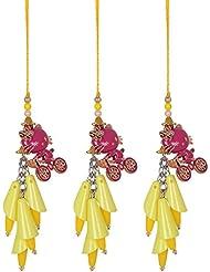 Rituz Yellow & Pink Plastic Rakhi For Women (Pack Of 2 Pcs, RKI-5)