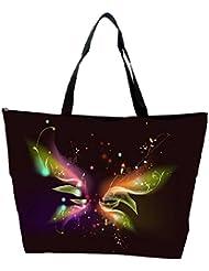 Snoogg Abstract Black Design Designer Waterproof Bag Made Of High Strength Nylon
