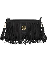 Deeanne London Women's Leather Sling Bag (Black)