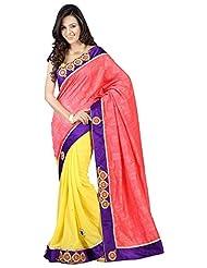 Bano Tradelink Women's Georgette Saree (Btl_Tr-Mn13, Multicolour )