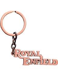 RainSound Royal Enfield Logo Metal Keychain Copper
