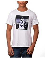 Kuroki Ronaldo- Mens White Colour Round Neck Tshirts - By Nirvana