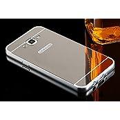 Taslar Luxury Mirror Metal Series Bumper Back Cover Case For Samsung Galaxy J3 (Silver)