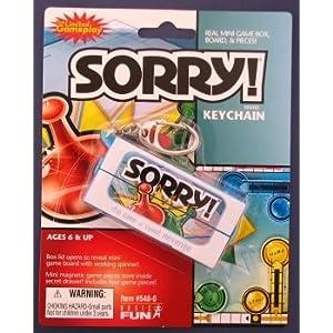 Click to buy Mini Sorry! Keychain from Amazon!