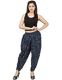 Elegant And Beautiful Navy Blue Polka Dots Rayon Dhoti Pant, Patiala Dhoti Salwar For Women, Girls From Khazana...