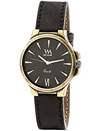 WATCH ME Black Leather Black Dial Watch For Men Black Leather Black Dial Watch For Men WMAL-186