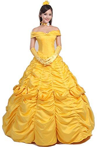 Halloween 2017 Disney Costumes Plus Size & Standard Women's Costume Characters - Women's Costume Characters Women's Cosplay Belle Gown - Custom Made Costume Dress