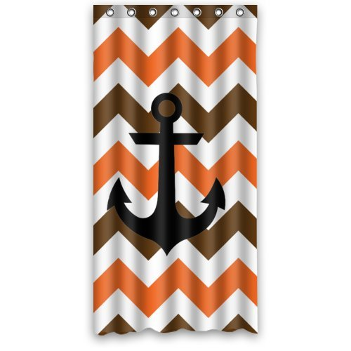 Orange and Brown chevron Anchor