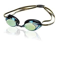 Speedo Vanquisher 2.0 Mirrored Goggle Black/Gold