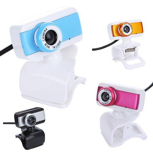 Docooler USB 2.0 50.0M HD Webcam Camera Web Cam With MIC For Computer Desktop PC Laptop Silver Blue