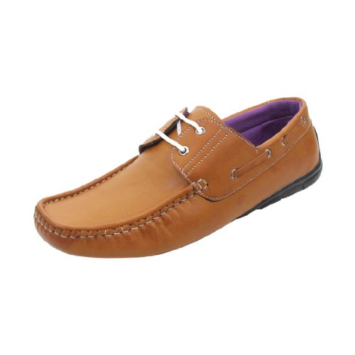 Bacca Bucci Men's Beige Synthetic Casual Lace-Up Shoes (BB-Corpus-Beige-Loafers )