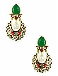 The Art Jewellery Brass Dangle & Drop Earring For Women (Multi-Colour) - B00O45JWBU