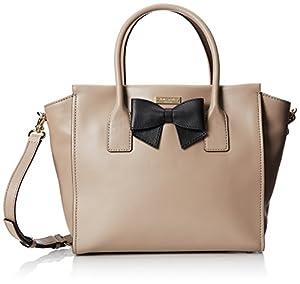 kate spade new york Hanover Street Charee Top Handle Bag,Warm Putty/Black,One Size