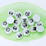 Alcoa Prime 100pcs Plastic Movable Wiggly Joggle Eyes 8mm Gluing On Puppet Doll DIY Craft