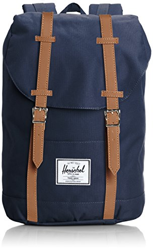 Herschel Classics | Backpacks Sac à Dos Loisir, 46 cm, Navy/Tan PU 828432018758