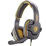 SADES SA-708 Over-Ear Headphone Stereo Gaming Headset With Mic - Grey