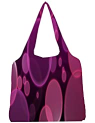 Snoogg Bubbles Design 2382 Womens Jhola Shape Tote Bag