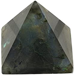 Labradorite Pyramid Carved Genuine Natural 1 1/4 Inch