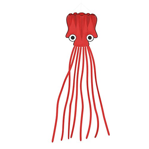 Wings.®Big And Beautiful Large Easy Flyer Software Octopus Kite - Perfect For Beach Or Park,31-Inch(Red)