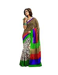 Vibes Women's Bhagalpuri Art Silk Saree,With Blouse (S51-VBK139_Multi)