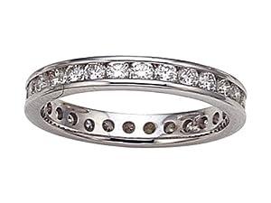 Karina B (tm) Round Diamonds Eternity Band in Platinum 950 Size 6