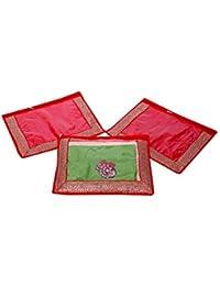Kuber Industries Single Packing Saree Cover Set Of 3 Pcs (Designer Lace) - B01GD8NJZU