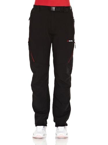Goritz Mirnock - Pantalón strech para mujer, color negro/rojo