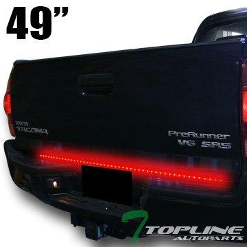Topline Autopart 49″ Universal Brake/Signal/Reverse Led Tailgate Tail Light Lamp Bar Truck/Suv Ta