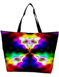 Snoogg Abstract Artistic Design Designer Waterproof Bag Made Of High Strength Nylon