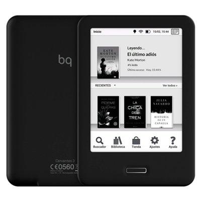 Bq - E-reader cervantes 3 8gb black/black