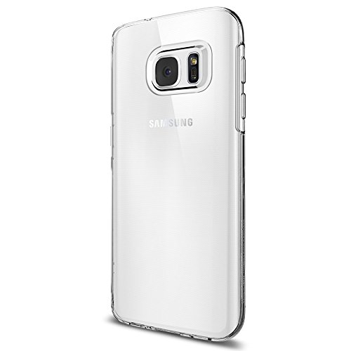 Coque Galaxy S7, Spigen [Liquid Crystal] Housse Silicone Transparent Ultra-Fine [Crystal Clear] Premium Semi-transparent / une Adherence exacte / Sans...