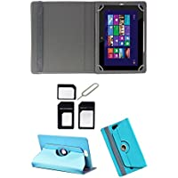 "Hello Zone Exclusive 360° Rotating 7"" Inch Flip Case Cover Book Cover For Asus Padfone Mini PF400CG Tablet -Sky..."
