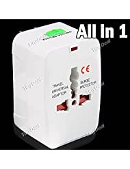 Universal Worldwide Uses Travel AC Power Charger Adaptor With UK + EU + AU + US Plug For Electronic Devices CAD...