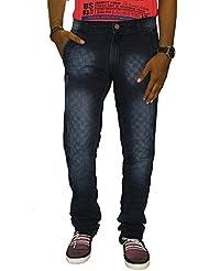 Jugend Blue Regular Fit Washed Stretchable Jeans For Men