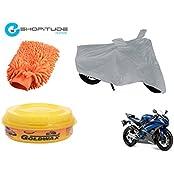 ESHOPITUDE-Bike & Car Cleaning & Utility Combo Set Of 3-Yamaha YZFR6
