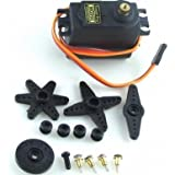 Sunkee Tower Pro MG995 Metal Gear 13kg55g High Speed & Torque Digi Servo With 4 Pcs Servo Horn Set (Arm , X ,...