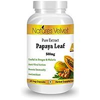 Papaya Leaf Extract( 500mg), 60 Veg Capsules