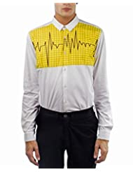 I AM TROUBLE BY KC Men's Button Front Shirt - B00XYFN8Y8