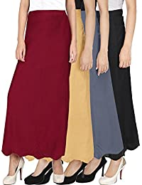 Ngt Pure Cotton Beige, Grey, Maroon And Black Petticoat/Underskirt For Womens.