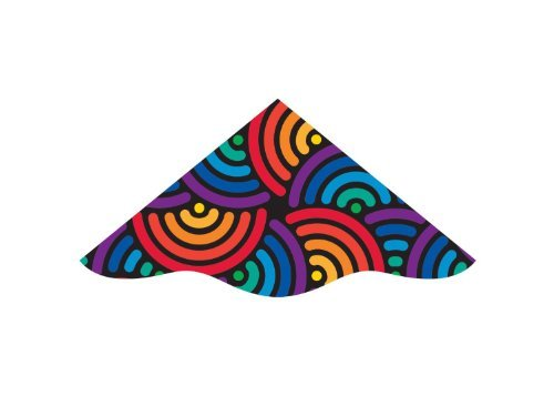 WindnSun 48 Inch WindDelta Nylon Diamond Kite - SWIRLS