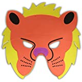 Thin Mask-Lion, Kids Party Supplies, Jungle Theme Birthday Party, Lion Masks (Pack Of 1)