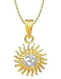 Om Pendants Lockets With Chain In Pendants & Lockets For Men Women In American Diamond Cz Jewellery Gifts Gold...