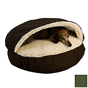 Amazon.com : Cozy Cave Hooded Dog Bed Color: Olive, Size