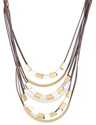 Asha Woman Brown Metal Chain Necklace For Women